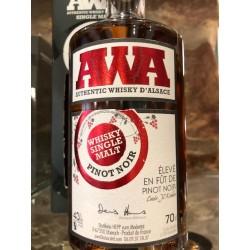 Whisky d'alsace AWA fût de pinot noir 70 cl.