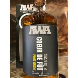 Whisky d'alsace AWA coeur de fût, pinot gris 70 cl.