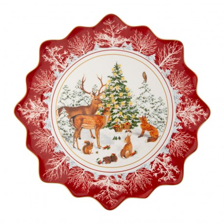 Toy'S Fantasy Large Plate Baking forest animals