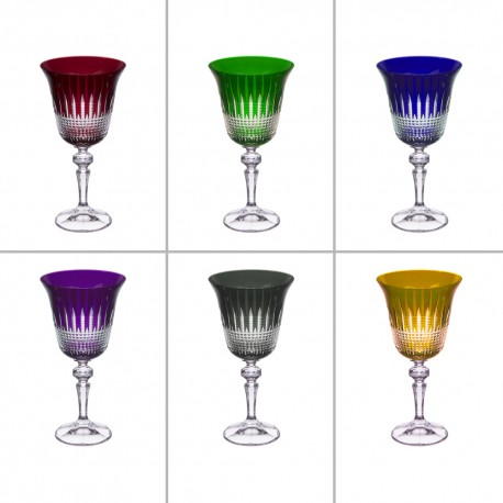 6 crystal Glasses Color Size Wine
