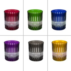 6 crystal Glasses Color for whisky