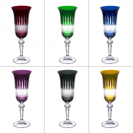 6 crystal champagne Glasses Color