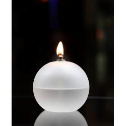 Lampe à huile Periglass boule Givré GM
