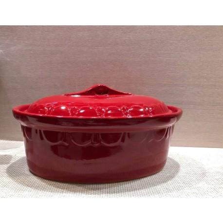 Oval Dish 29 Cm. / Pottery Alsace / Uni