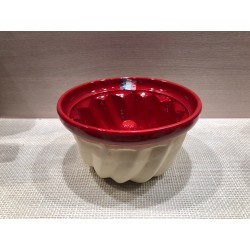 Moule à kouglof 10 cm / Poterie d'Alsace /  rouge uni
