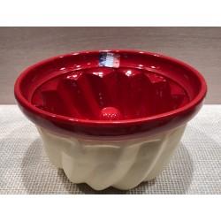 Moule à kouglof 22 cm / Poterie d'Alsace /  rouge uni