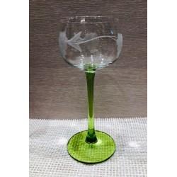 6 verres à vin d'Alsace décor raisins