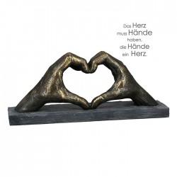 "Sculpture heart with hands ""Casablanca"""