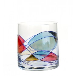 6 whisky Glasses Colored  Milano