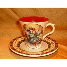 Tasse & soucoupe thé Saint Petersbourg
