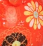 orange - fleurs