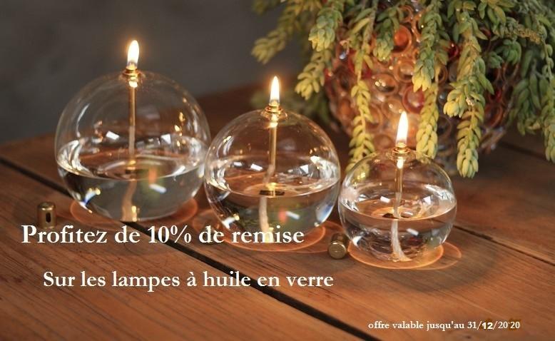 promotion lampes à huile en verre fait à la main