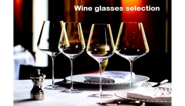 wine glasses selection